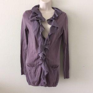 Gorgeous Ann Taylor loft purple cardigan shirt